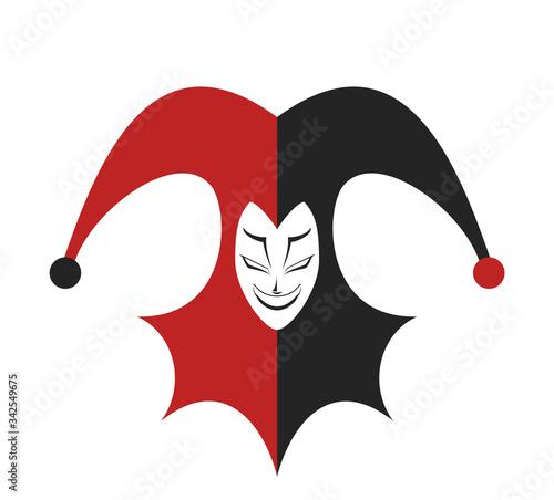 Fototapeta Design of funny jester illustration