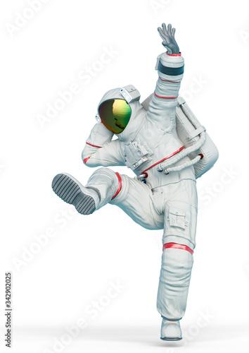 astronaut is dancing Fototapeta