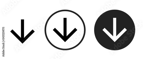 Fotografija arrow downward icon . web icon set .vector illustration