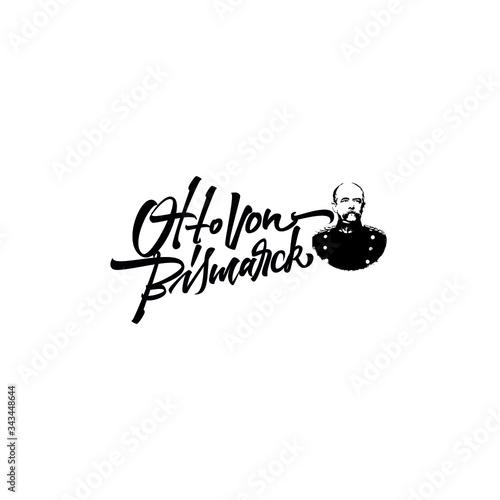 Tableau sur Toile The Otto von Bismarck logo lettering