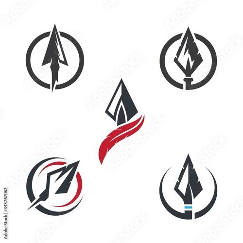 Spear logo icon Fototapeta
