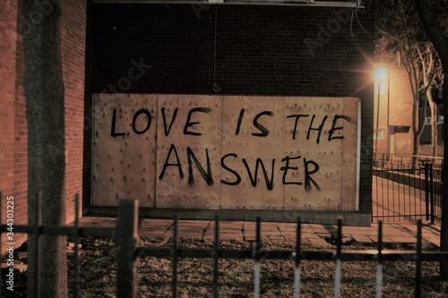 Fototapeta premium Close-up Of Text On Brick Wall