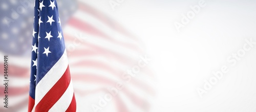 Fotografie, Obraz American flag for Memorial Day, 4th of July, Labour Day