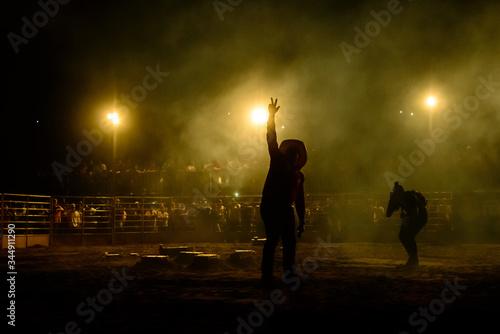 Fotografie, Obraz Rodeo workers from Brazil