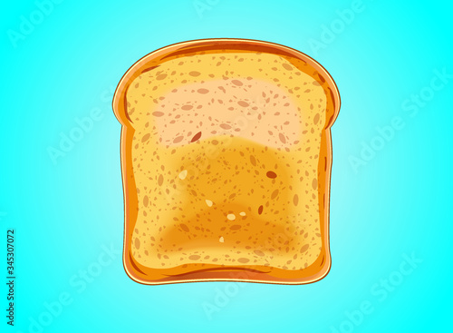 Photo Bread toast of roasted in background vector