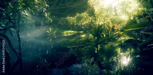 Stampa su Tela Jungle paradise concept