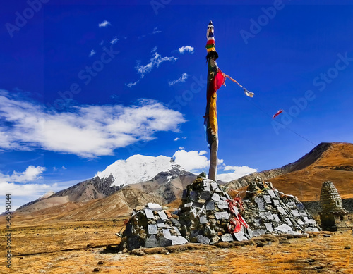 Wallpaper Mural A makeshift stupa somewhere in the Tibet highland