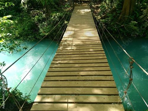 Canvastavla Footbridge Over River At Forest