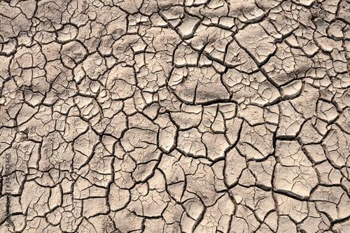 Wallpaper Mural Ground cracks drought crisis environment background.