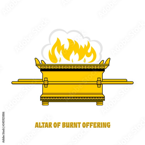The altar of burnt offering in the tabernacle and temple of Solomon Fototapet