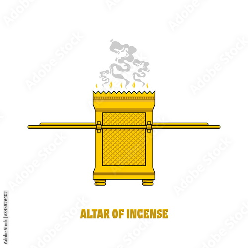 Fototapeta The altar of incense, installed in the tabernacle and temple of Solomon
