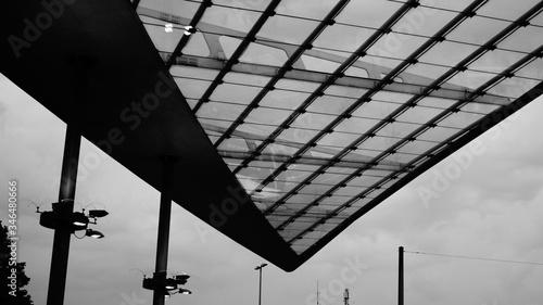 Fotografiet Modern Rood Against Sky