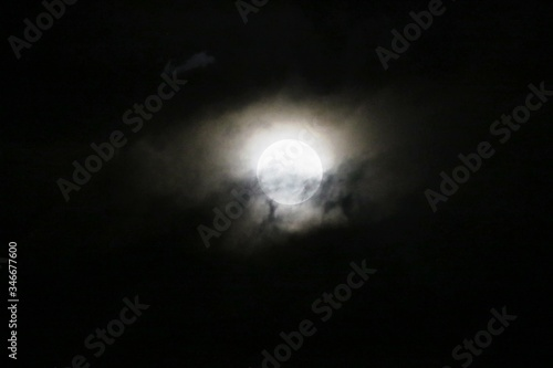 Wallpaper Mural Moon Against Sky At Night