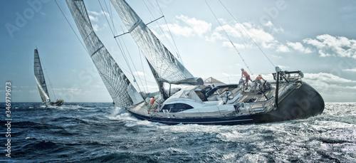 Fotografie, Obraz Sailing yacht regatta. Yachting. Sailing