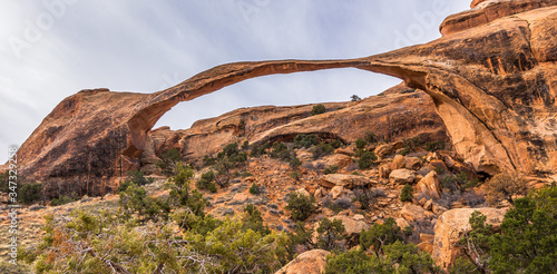 Canvas Print Landscape Arch in Arches National Park, Utah, USA