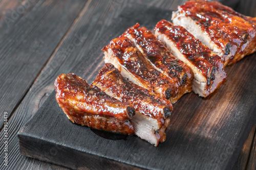 Fotografie, Obraz Grilled pork ribs