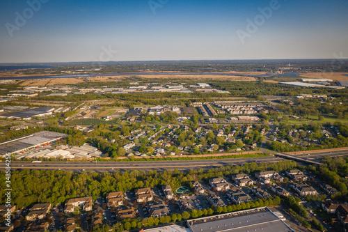 Fotografie, Tablou Aerial of Edison New Jersey