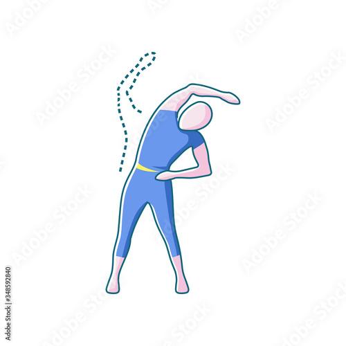 trunk lateral flexion, color  icon Fotobehang