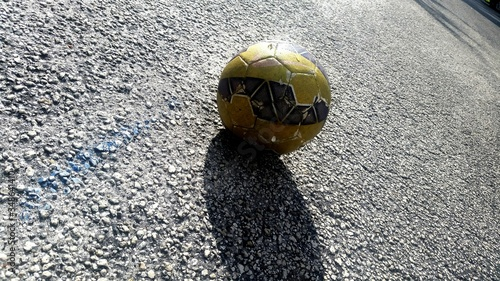 Close-up Of Ball On Road