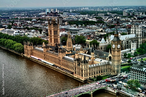 Fotografie, Obraz Palace Of Westminster And Big Ben By River