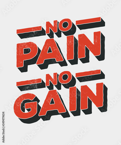 Obraz na plátně No pain no gain
