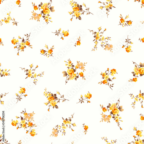 Tableau sur Toile Seamless vector pattern of a rose elegant beautifully