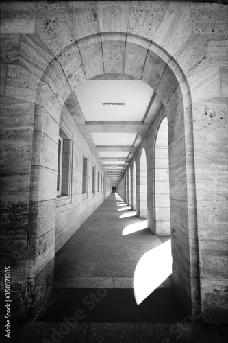 View Of Narrow Passage From Arch Fototapet