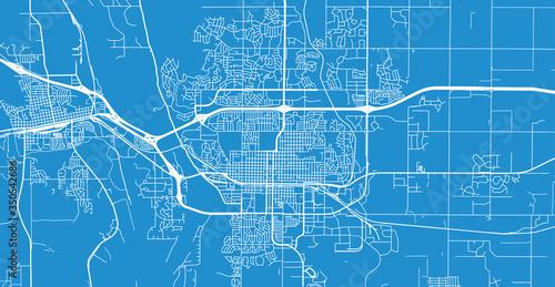 Photographie Urban vector city map of Bismarck, USA