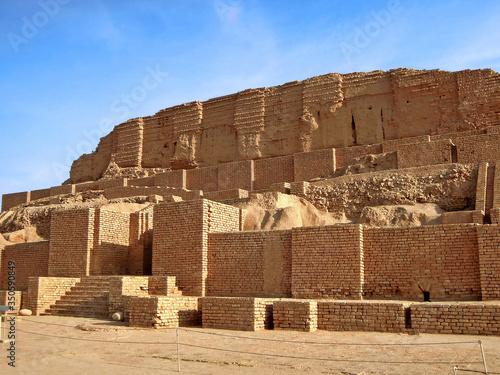 Walls of ziggurat Chogha Zanbil, Shush, Iran Fototapeta