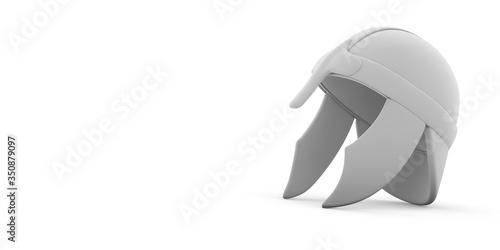 Obraz na plátně 3d Illustration - old soldier helmet