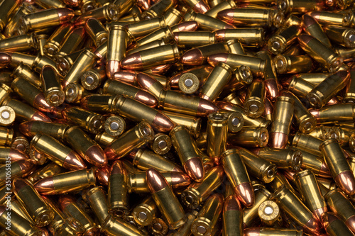 Fototapeta 9mm ammo pile