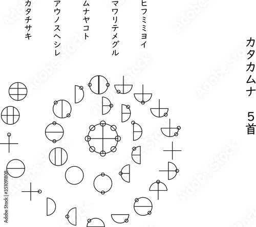 Fotografiet 日本誕生の物語、古事記はこの「カタカムナ」文字から始まった。次元上昇の言霊と言われている