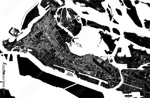 Fototapeta map of the city of Abu Dhabi, UAE