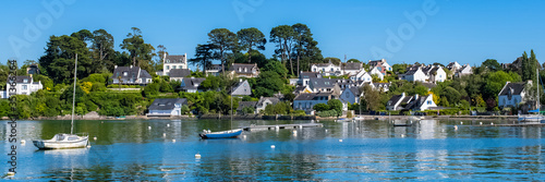 Tela Brittany, Ile aux Moines island in the Morbihan gulf, the typical harbor and old