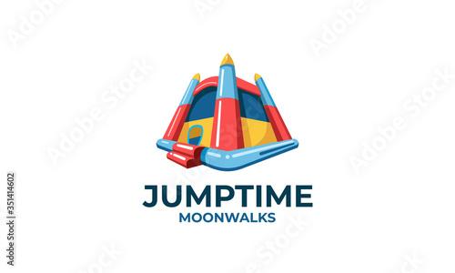 Obraz na płótnie Jump time Moonwalks Logo design