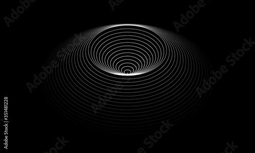 Fototapeta premium zestaw kółek jak złudzenie optyczne