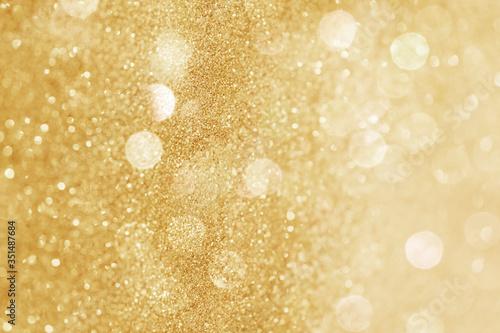 Glittery gold bokeh patterned background illustration Fototapeta