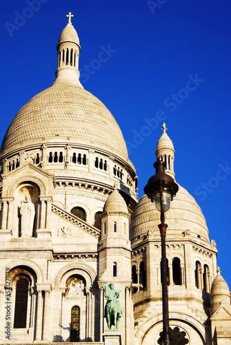 Basilique Du Sacre Coeur Against Clear Blue Sky фототапет