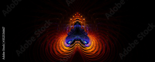 Canvas Print Abstract Shiva's energy shines brightly