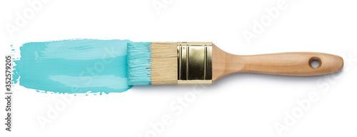 Fotografie, Obraz Perfect paintbrush on white background