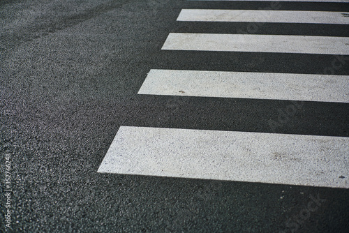Canvas-taulu High Angle View Of Zebra Crossing On Road