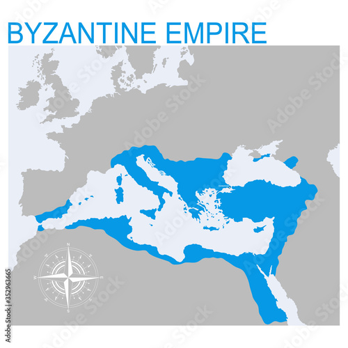 vector map of the Byzantine Empire for your design Fototapeta