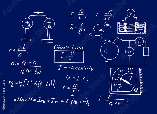 Photo Physics law theory and mathematical formula equation