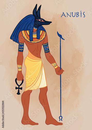 Canvas Print Portrait of Anubis