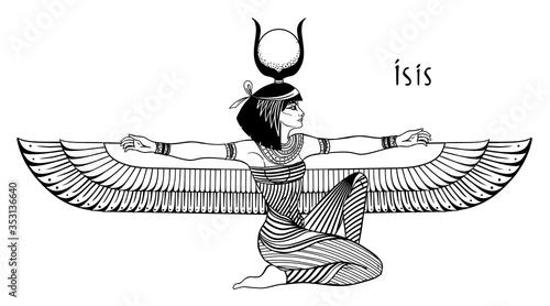 Canvas Print Isis, goddess of life and magic in Egyptian mythology