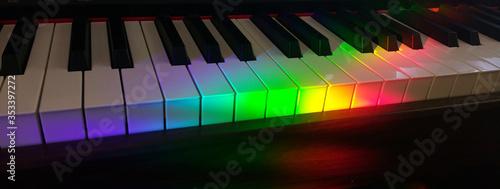 Fotografija Colorful Piano Keys Background