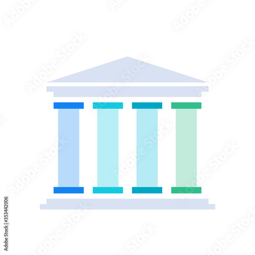 Fotografie, Obraz Four pillars diagram. Clipart image isolated on white background