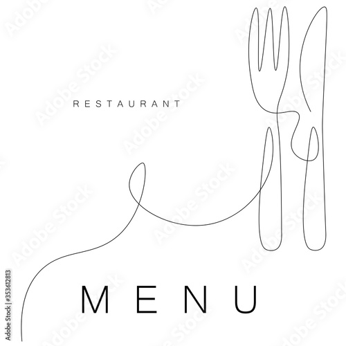 Fotografia Restaurant menu design vector illustration