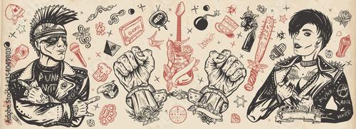 Fotografie, Obraz Punk rock music