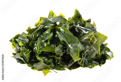 Fotografie, Obraz seaweed or kelp Isolated on White background